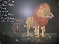 blackboard lion